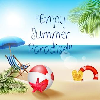 Vacanze estive in spiaggia con beach volley