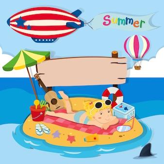 Vacanze estive in spiaggia