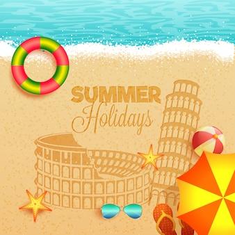 Vacanze estive nel concetto di italia