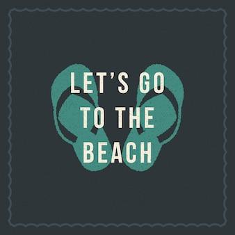 Vacanze estive tipografia design ispiratore preventivo per poster o abbigliamento