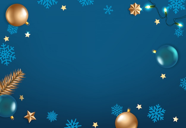 Vacanze invernali sfondo blu