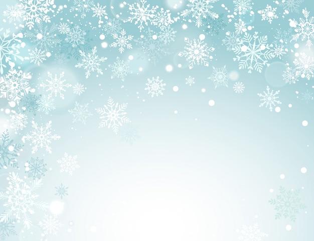 Vacanze invernali sullo sfondo