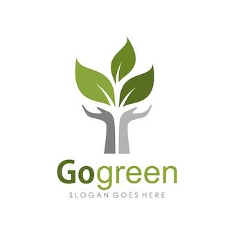 Vai modello di progettazione logo verde
