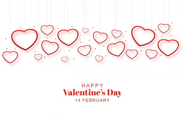 Valentine hearts romantico decorativo nel card
