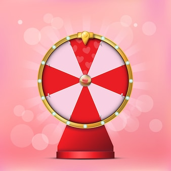Valentine spinning fortune wheel