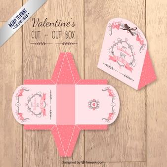 Valentine tagliato scatola