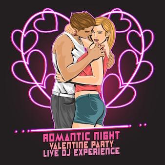 Valentino partito romantico