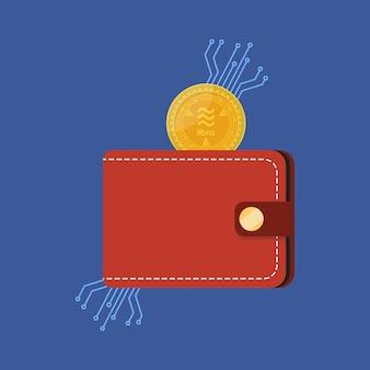 Valuta dei soldi libra con portafoglio