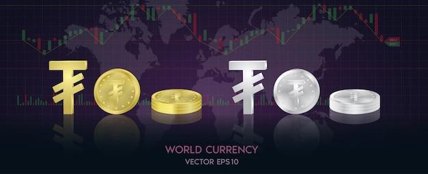 Valuta globale. borsa valori. illustrazione di riserva