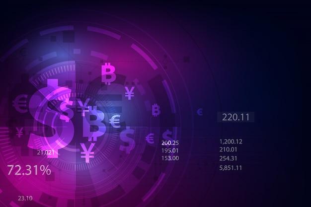 Valuta globale sullo sfondo
