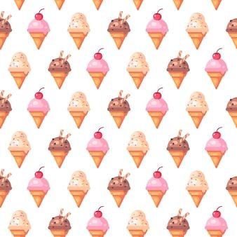 Vari modelli di gelato coni senza soluzione di continuità