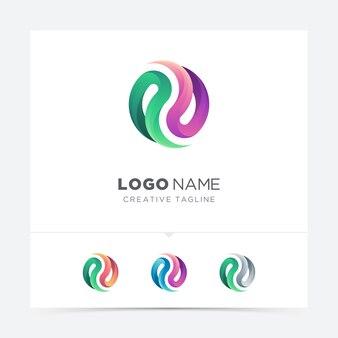 Variazione di logo astratto forma colorata