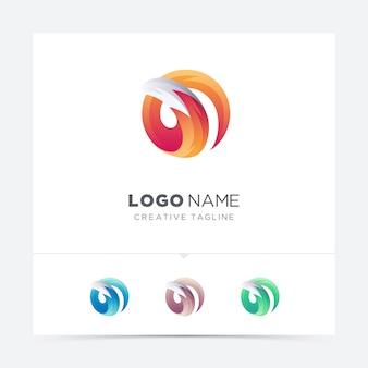 Variazione logo volpe creativa
