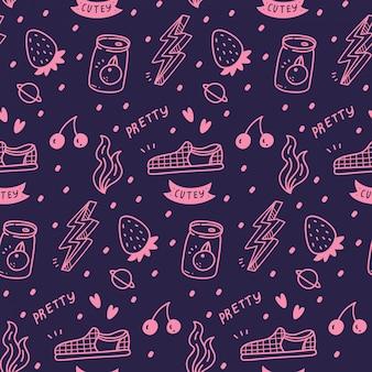 Varie cose carino girly seamless pattern
