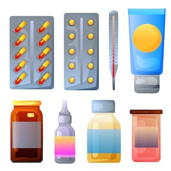 Varie medicine e medicine bottiglia