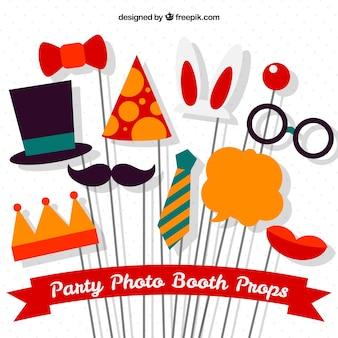 Variegata collezione di elementi per photoboth