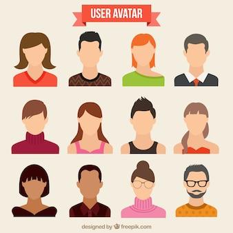 Varietà di avatar degli utenti