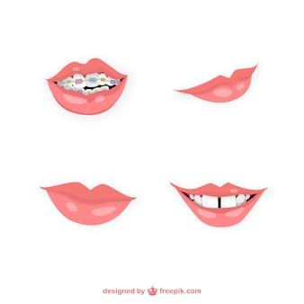 Varietà di bocche