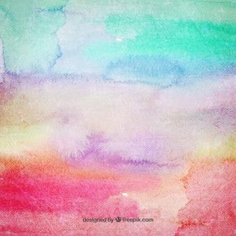 Varietà di colori di sfondo dipinto a mano