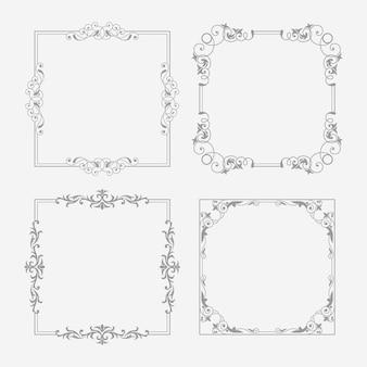 Varietà di cornici ornamentali vintage