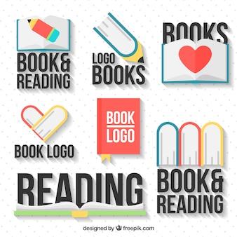 Varietà di decorativo libro loghi