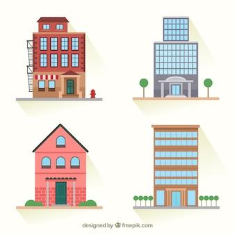 Varietà di edifici della città