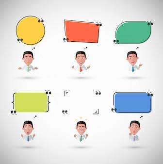 Varietà di emozioni man with speech bubble