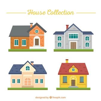 Varietà di facciate delle case a struttura piatta