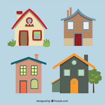 Varietà di facciate delle case