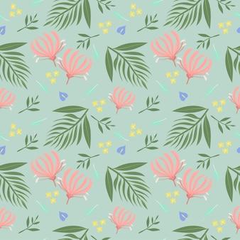 Varietà di foresta pluviale fiori e piante senza cuciture