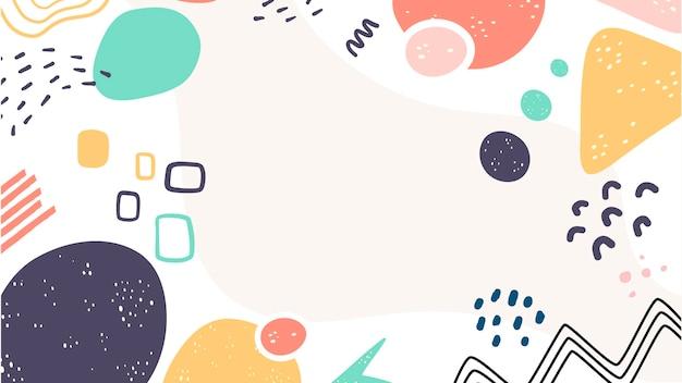 Varietà di forme astratte sfondo carino