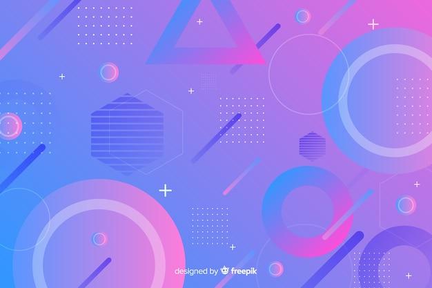 Varietà di forme geometriche sullo sfondo