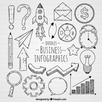 Varietà di icone di business per infografica