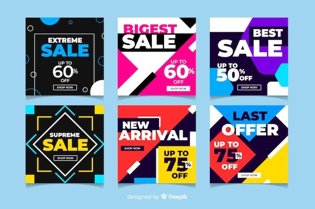 Varietà di instagram post vendita collezione