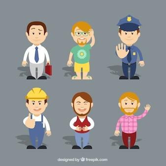 Varietà di personaggi dei cartoni animati