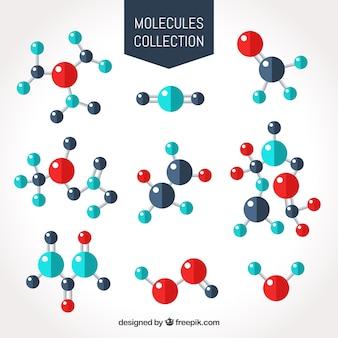 Varietà piatta di molecole divertenti