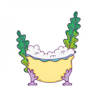 Vasca da bagno con icona alghe