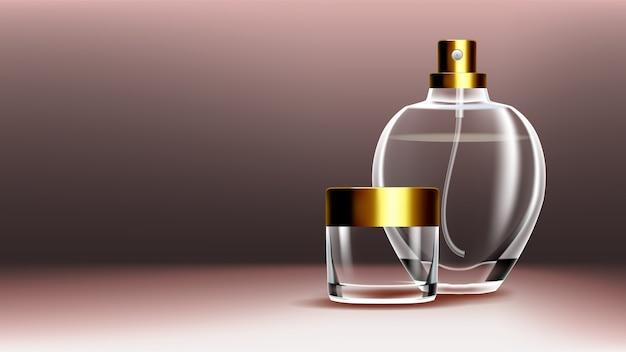 Vasetti di prodotti cosmetici