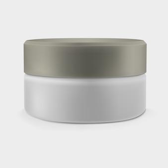 Vaso crema chiuso isolato