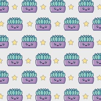 Vaso di cactus kawaii