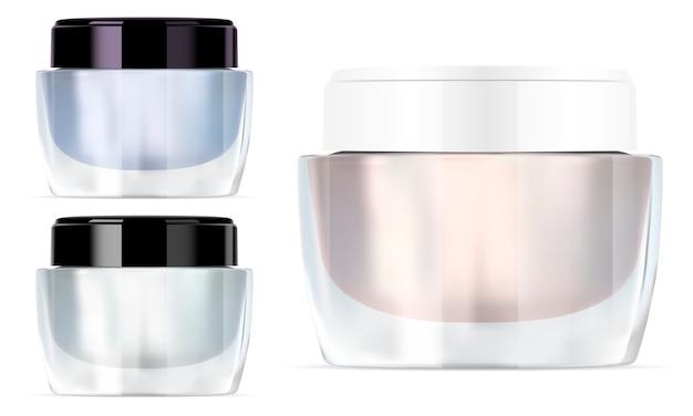 Vaso di crema di vetro