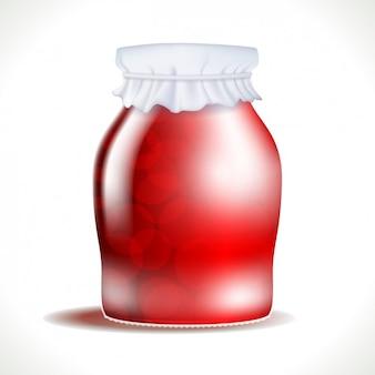 Vaso rosso in 3d