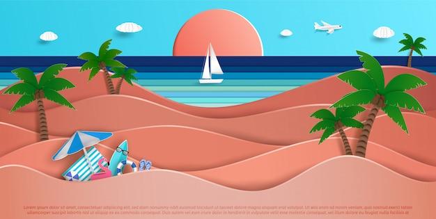 Vasta vista sul mare in estate