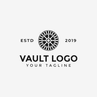 Vault logo template illustration