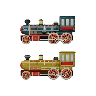 Vecchi giocattoli vintage due motori
