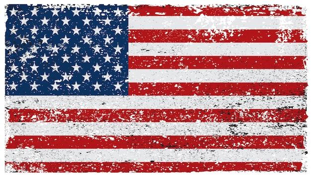 Vecchia bandiera americana sgangherata