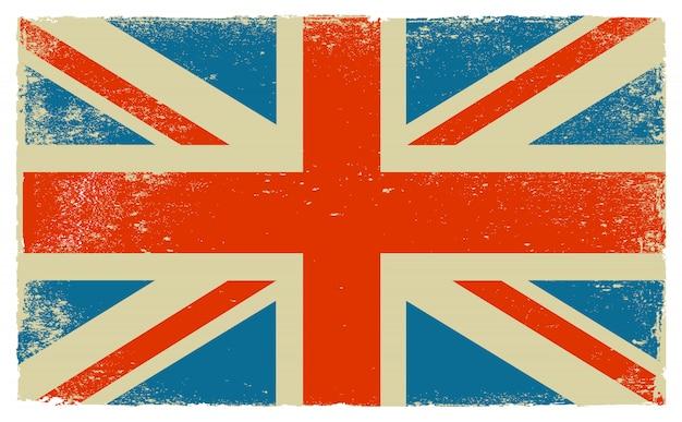 Vecchia bandiera vintage del regno unito