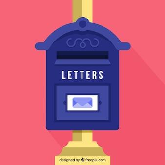 Vecchia cassetta postale background in design piatto