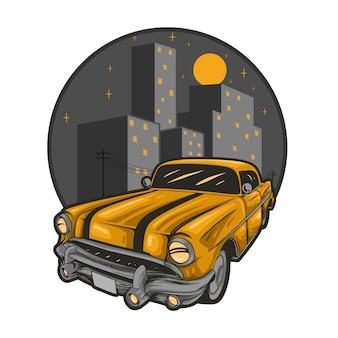 Vecchia città di auto