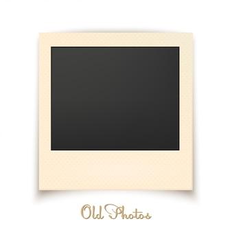 Vecchia foto su uno sfondo bianco. illustrazione vettoriale